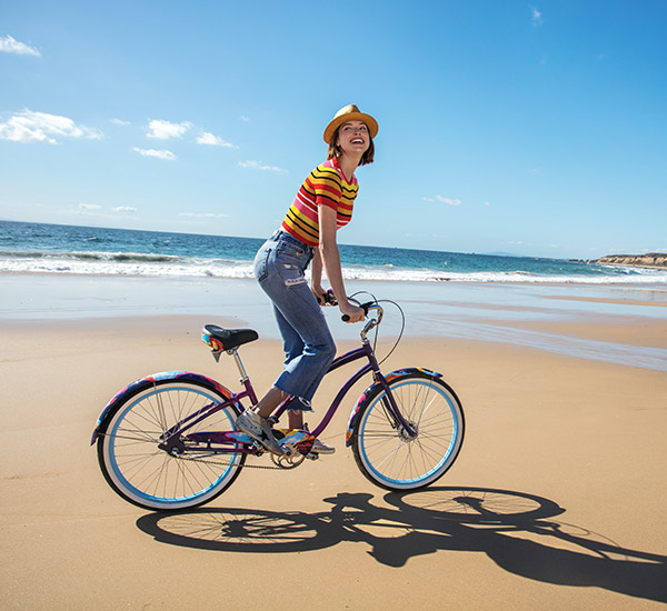 cruiser bike on the beach