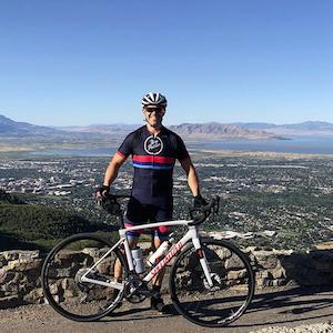 On A Bike Ride Overlooking Utah Lake