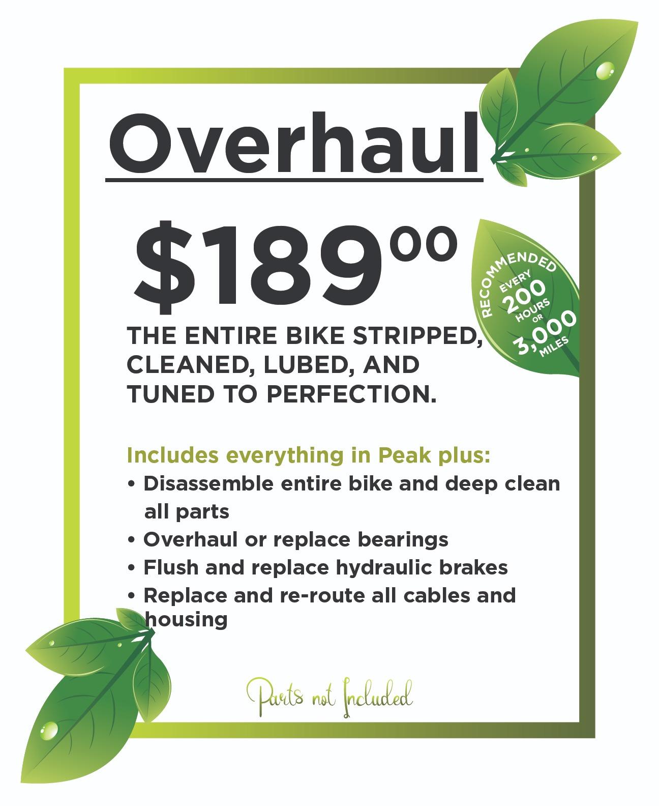 Overhaul $189