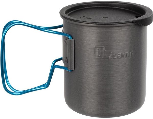 Olicamp Space Saver Mug Blue With Lid