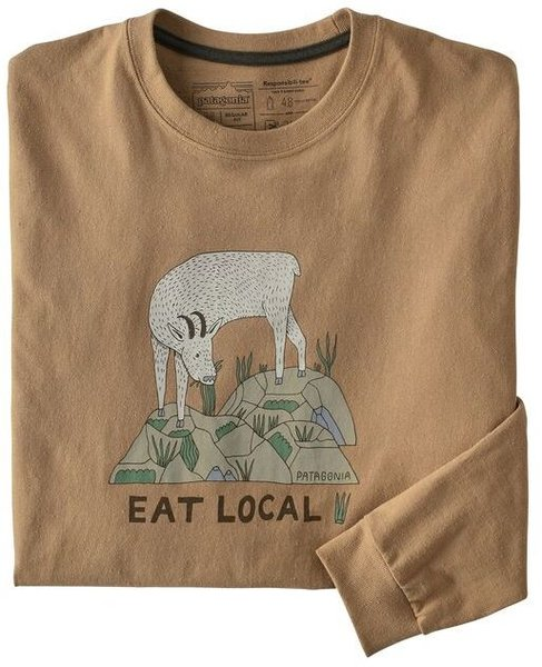 Patagonia M's Long-Sleeved Eat Local Goat ResponsibiliTee