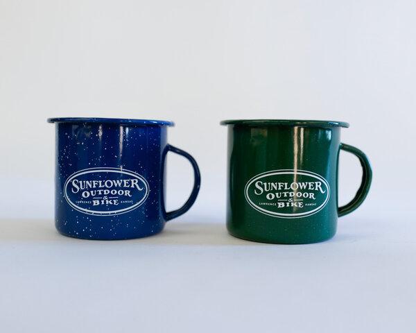 Sunflower 12oz Enamelware Mug