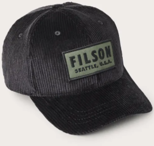 Filson Cord Logger Cap Color: Black