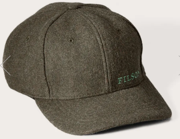 Filson Wool Logger Cap Color: Forest Green
