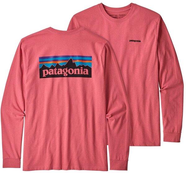 Patagonia W's Long-Sleeved Pastel P-6 Logo Responsibili-Tee