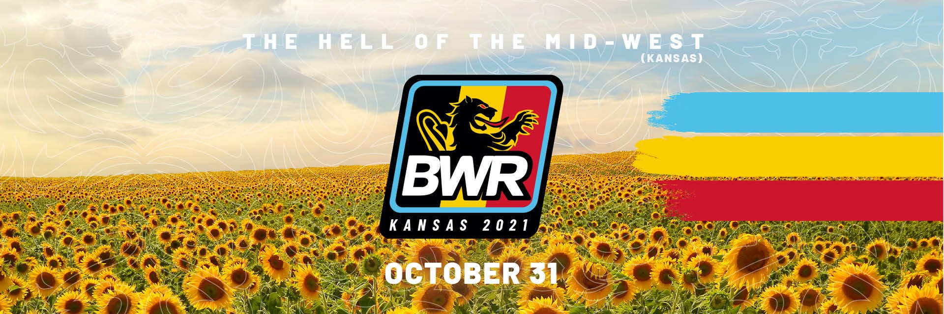 Sunflower field and BWR Logo