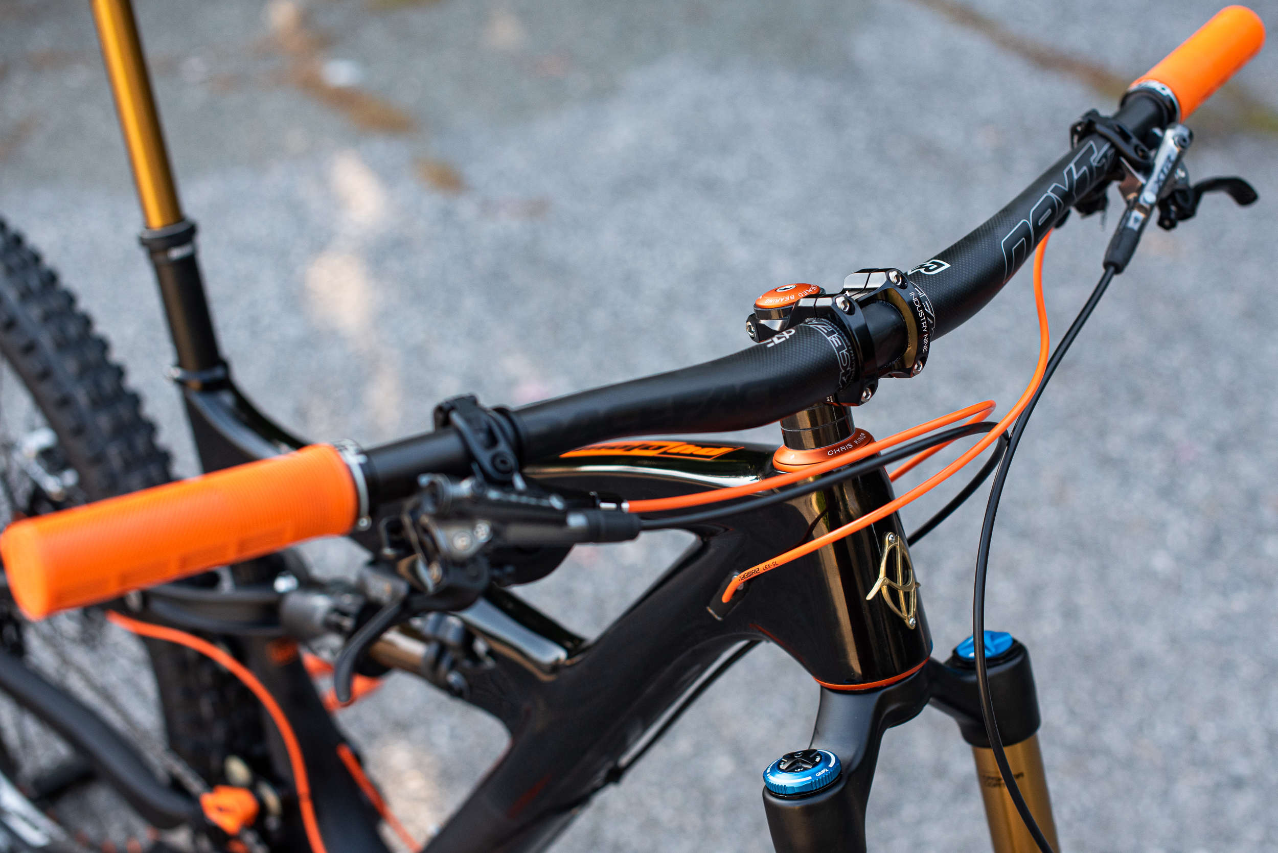 Ibis bike showing handlebars and components