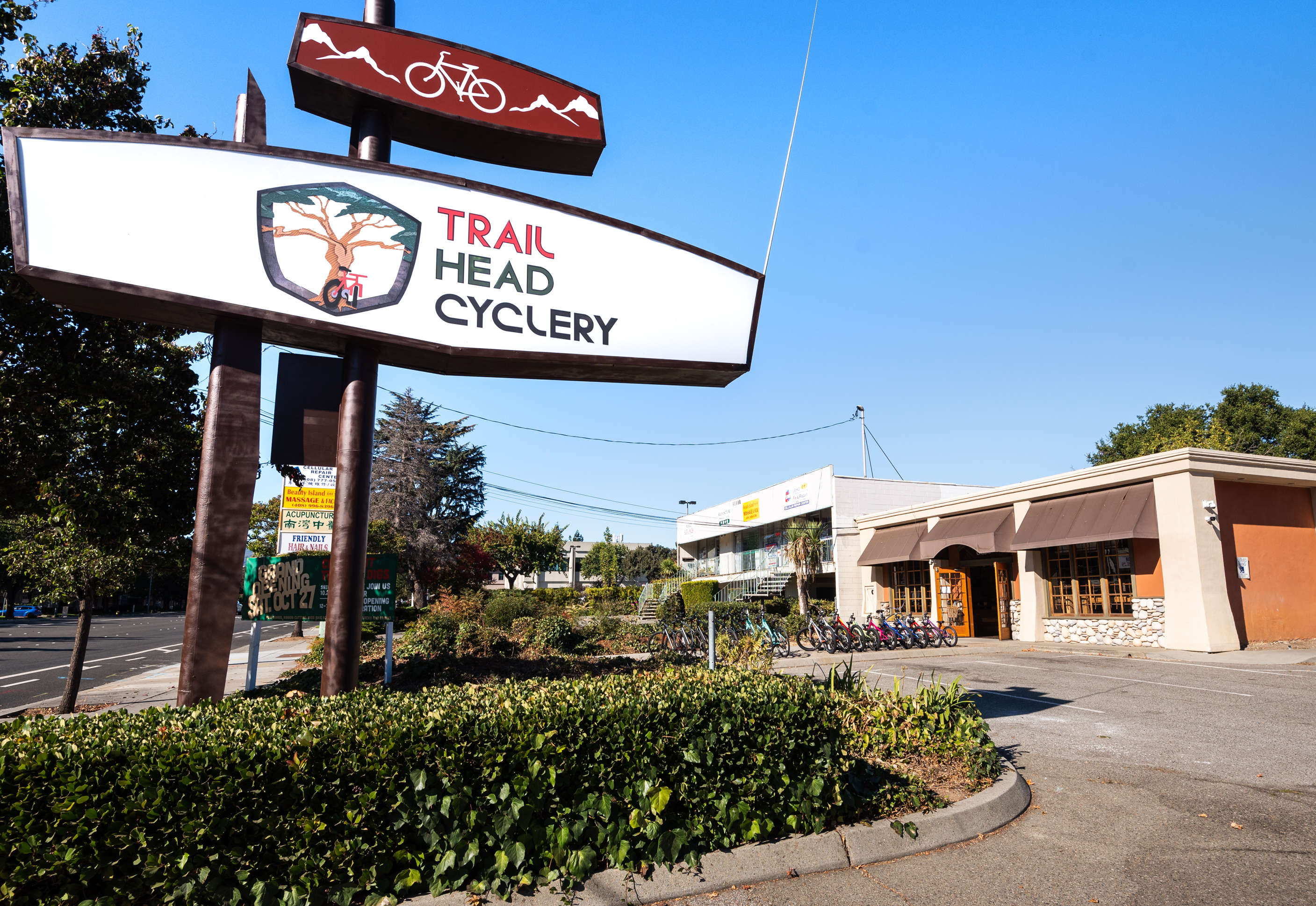 Exterior Store front of Trail Head Cyclery Cupertino CA