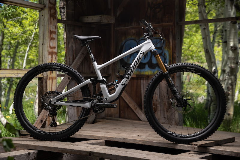 Specialized enduro at trail head cyclery