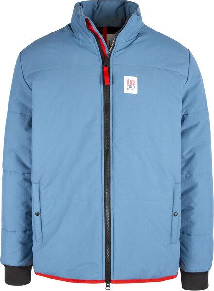 TOPO Mid Puffer Jacket Mens - Vintage Blue