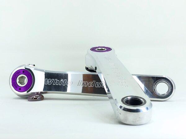 White Industries R30 Crankset / 172.5mm - High Polish/Purple