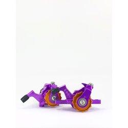 Paul Component Engineering Klamper Disc Caliper F&R Set - PM/FM / Campy Pull - CUSTOM Purple/Gold