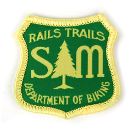 S & M Bikes Rails & Trails Dept of Biking Patch
