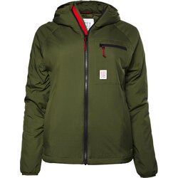 TOPO Puffer Hoodie Womens - Olive