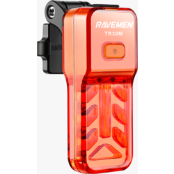 Ravemen TR30M USB Rechargeable Rear Light / Taillight - Crystal Pure Red