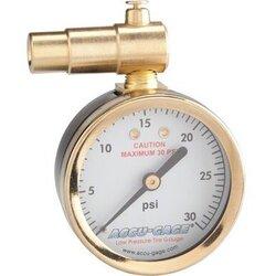 Meiser Accu-Gage Presta Valve Dial Gauge with Pressure Relief - up to 30psi