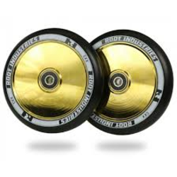 root Industries AIR Wheels 120mm | Black / Gold Rush