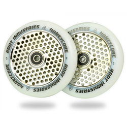 root Industries Honeycore Wheels 110mm | White / Mirror
