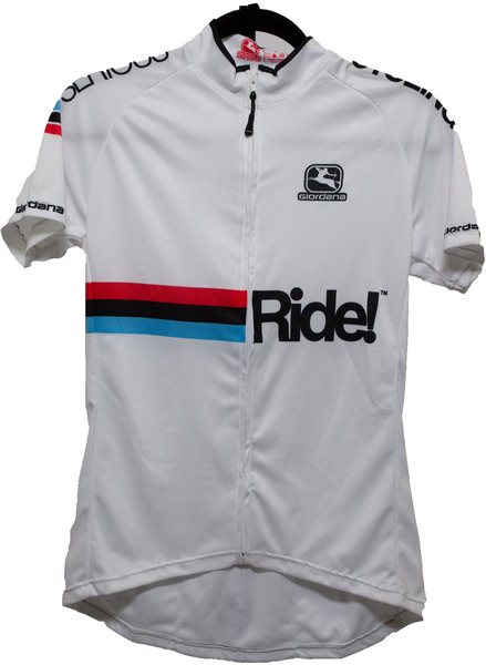 "Giordana Serious Cycling ""Ride!"" logo Jersey White (WMN)"
