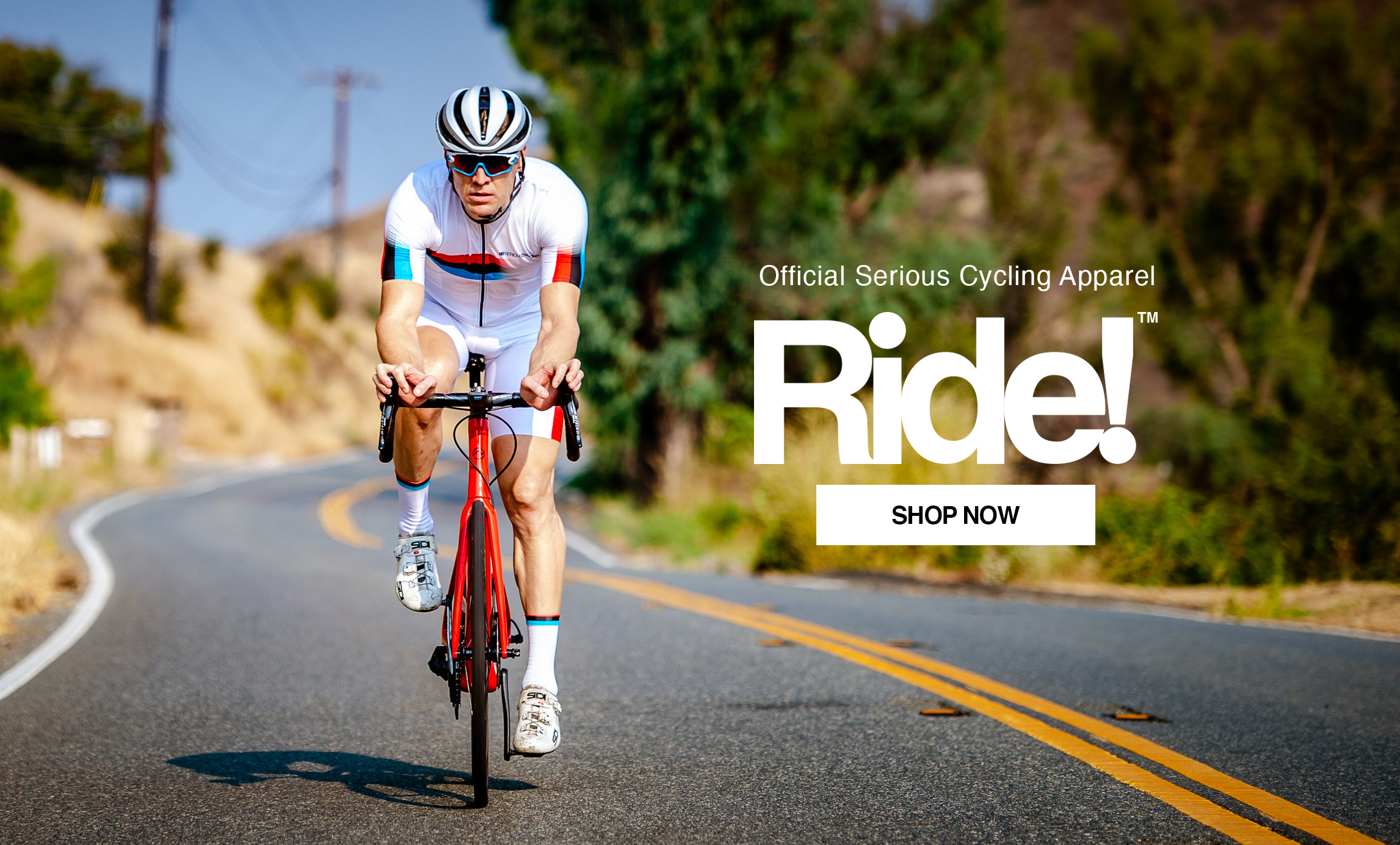 Official Serious Cycling Apparel. Ride! Shop Now