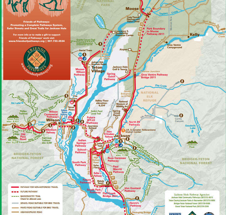 Jackson Pathways map