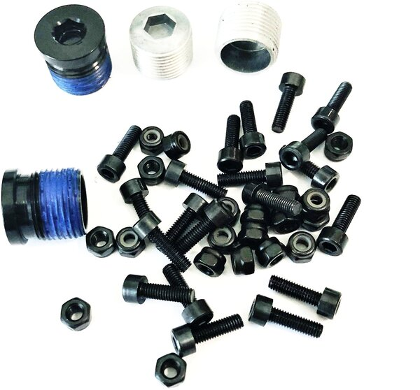 OneUp Composite Pedal Pin and Cap Set