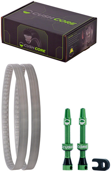 "CushCore XC Tire Inserts Set 27.5"" Pair, Includes 2 Tubeless Valves"