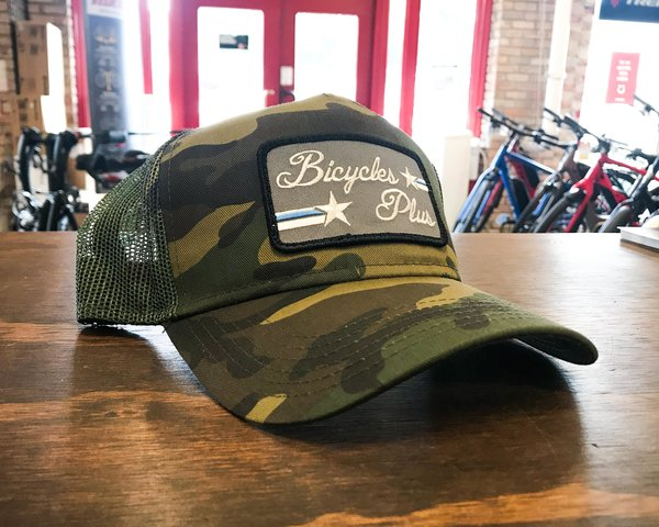 Bicycles Plus Stars & Stripes 5 Panel Trucker Hat