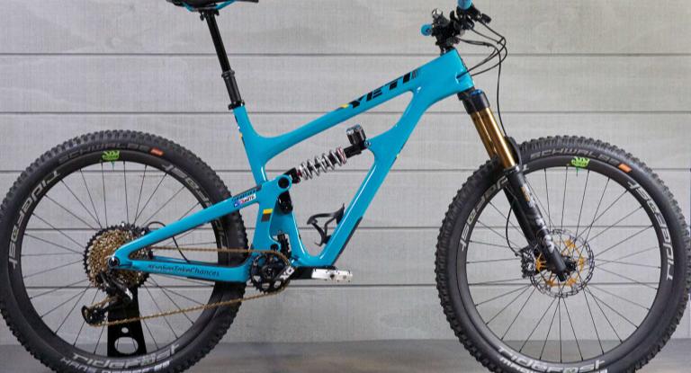 Custom built Yeti mountain bike.