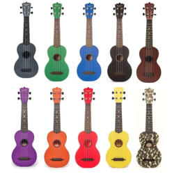 Beaver Creek Soprano Ukulele Various Colours w/ Soft Case