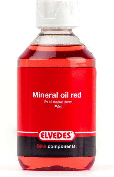 Elvedes Huile minérale Rouge type Shimano pour tous les sytème d' huile minérale 1000ml
