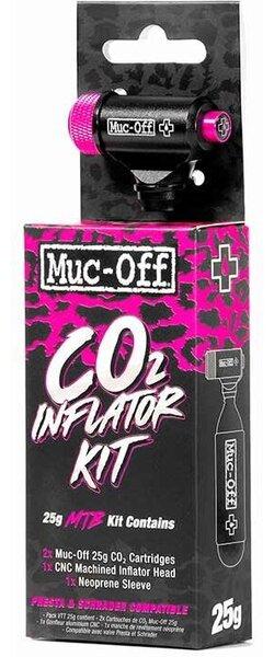 Muc-Off Detendeur CO2 25g VTT, Avec filets, Presta, Schrader, Kit