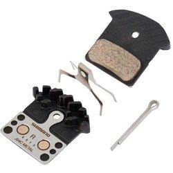 Shimano BR-M9000, J04C, Patins de freins à disque, En métal Avec ailettes, Paire, J type,