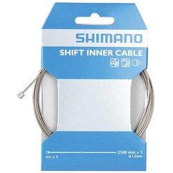 Shimano Câble de dérailleur, Inox, 1.2x2100mm, Unité