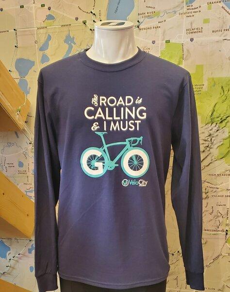 VeloCity Cycling VeloCity Bike Blue Long-Sleeved Shirts
