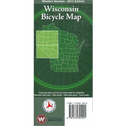 WI Bike Federation WI Bike Map Western Section 2015