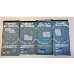 WI Bike Federation 4 Pack of WI Bike Trail Maps 2020