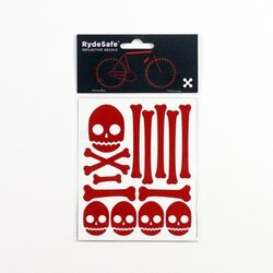 RydeSafe Skull and Bones Reflective Decals Kit