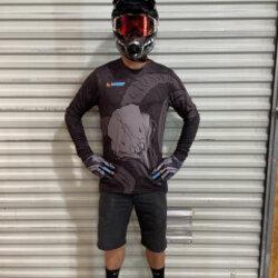AMC Branded Atac All Mountain Cyclery Ram Skull Long Sleeve Jersey