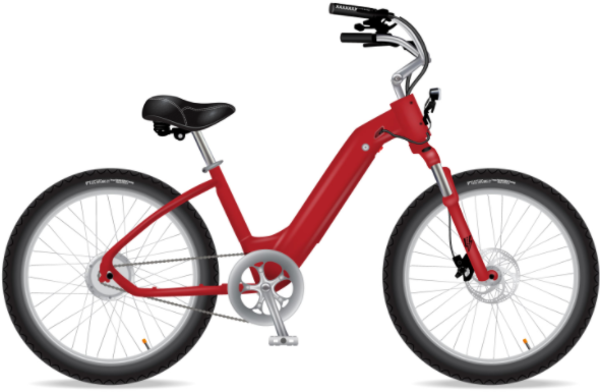 Electric Bike Company Model R (Rugged) Color: Red
