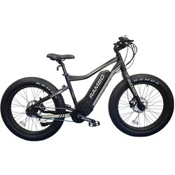 Rambo Fat Tire RYDER 750W 24 MATTE BLACK AND TAN