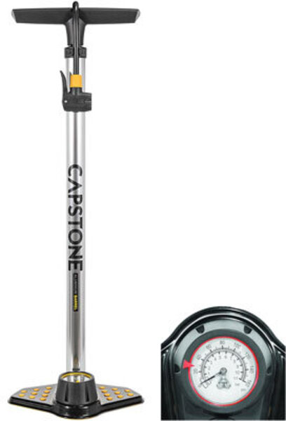 Capstone Alloy Air Pump With Guage