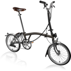Brompton H6L Black Lacquer with Brooks B17 Special Saddle