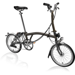Brompton M6L Black Lacquer with Dynamo Lighting