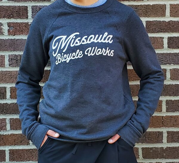 Missoula Bicycle Works MBW Custom Script Crewneck