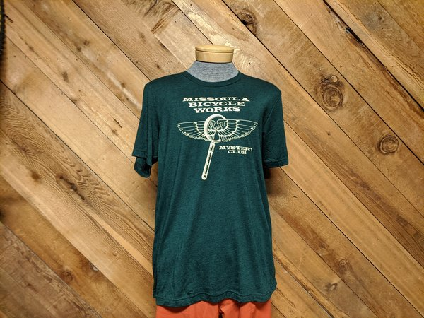 Missoula Bicycle Works MBW Men's Mystery Club T-Shirt Heather Green