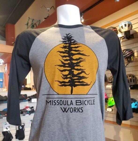 Missoula Bicycle Works MBW Sunset Baseball T-shirt