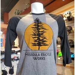 Missoula Bicycle Works MBW Sunset Baseball T-shirt