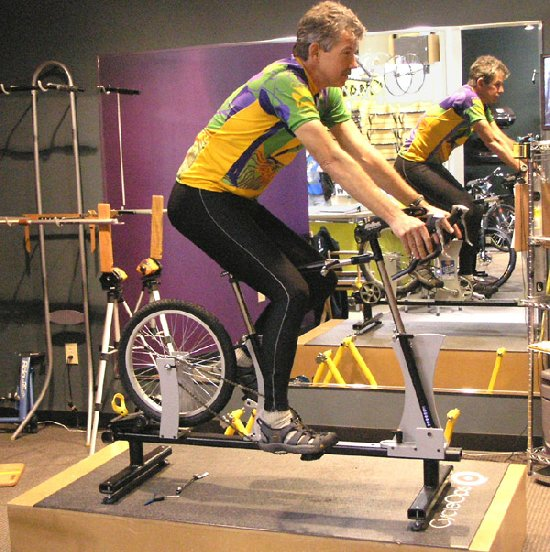 Photo of a person on the Waterford Bike Fit System