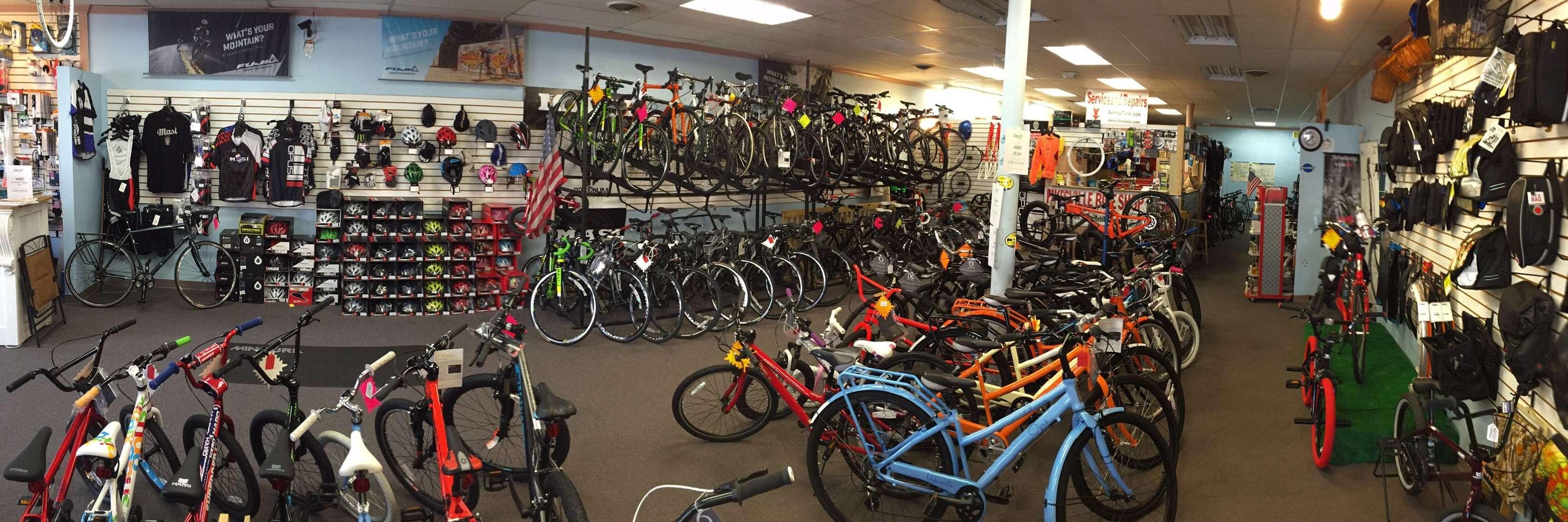 Interior of Pikesville Bike Shop